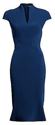 Zac Posen Women's Bonded Crepe Cap Sleeve Sheath Dress