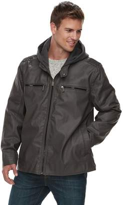 Urban Republic Men's Faux Leather Quilted Jacket