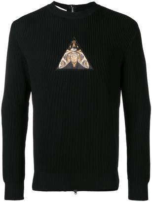 Givenchy patch zipped back sweatshirt