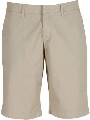 Fay Microcheck Zipped Shorts