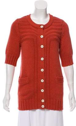 Marc by Marc Jacobs Wool-Blend Short Sleeve Cardigan