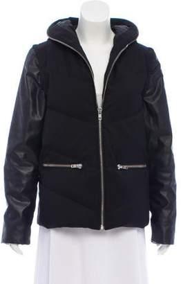 The Kooples Sport Hooded Zip-Up Jacket