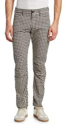 G Star Elwood 5622 3D Tapered Houndstooth Jeans