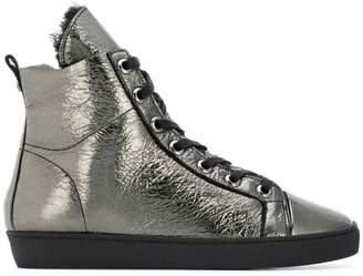 Högl metallic lace-up boots