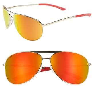 Smith Serpico 2 65mm Mirrored ChromaPop(TM) Aviator Sunglasses