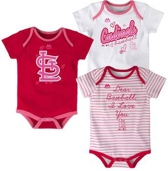 Majestic Baby St. Louis Cardinals 3-Pack Bodysuits