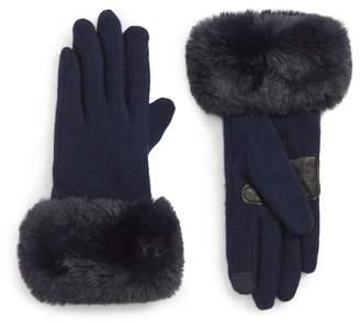 Echo Faux Fur Cuff Touchscreen Gloves