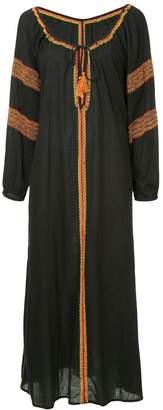 The Upside embroidered split neck maxi dress