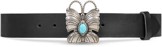 Leather belt with butterfly $990 thestylecure.com