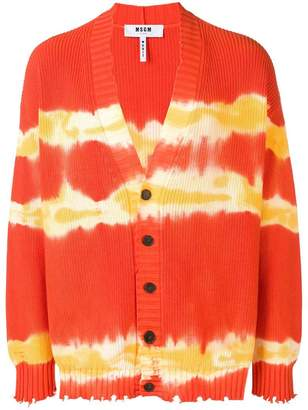 MSGM frayed v-neck cardigan