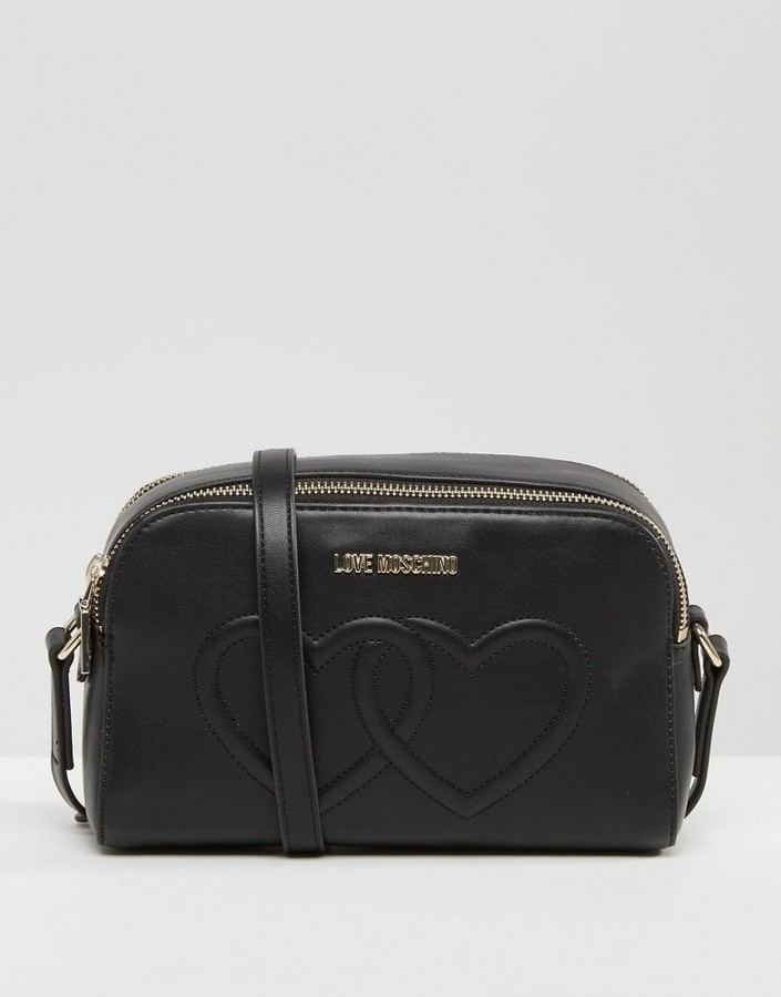 Love MoschinoLove Moschino Double Heart Shoulder Bag