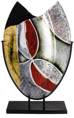 "Jasmine Art Glass 12"" x 20"" Oval Vase"