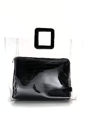 STAUD Women's Large Croc Shirley Bag
