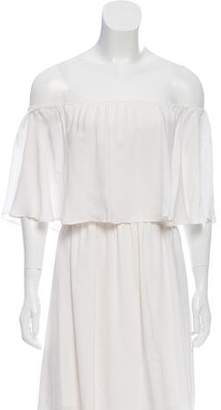 Alice + Olivia Off-The-Shoulder Mini Dress