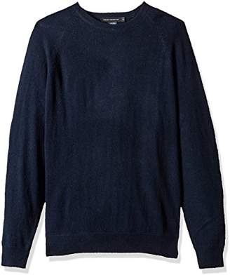 French Connection Men's Lambswool Needle Punch Elbow Patch Sweater