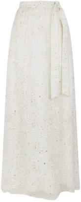 St. John Glitter Chiffon Maxi Skirt