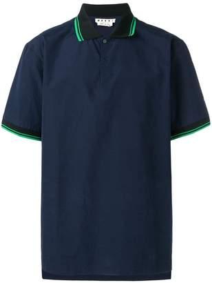 Marni stripe trim shirt