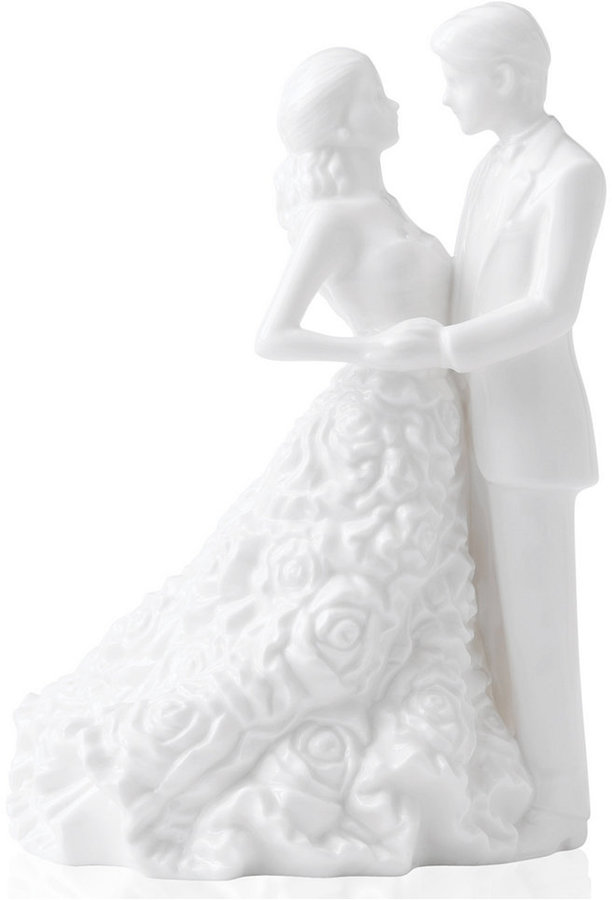Monique Lhuillier Waterford Cake Topper, Modern Love Bride and Groom