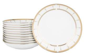 Haviland Set of 11 Limoges Porcelain Tambour Soup Bowls