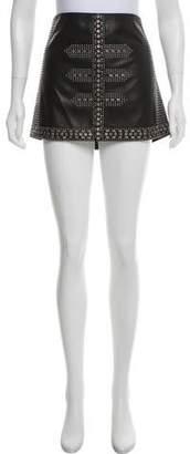 Haute Hippie Studded Leather Skirt