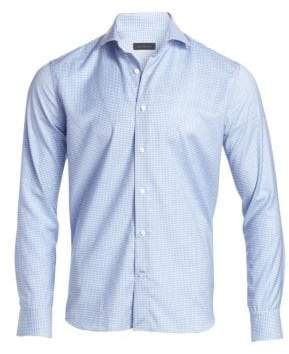 Saks Fifth Avenue COLLECTION Gingham Virgin Wool Woven Shirt