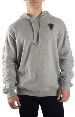 Men's Heather Gray Marvel Comics Punisher Hoodie with Sleeve Stripes