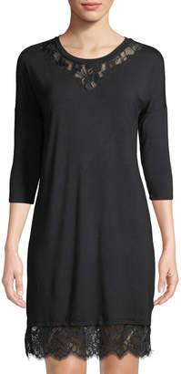 Dex Lace-Trim 3/4-Sleeve Sheath Dress
