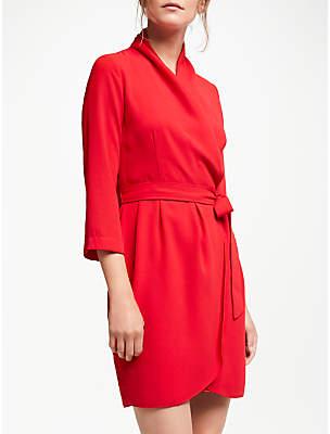 Suncoo Candice Wrap Dress, Rouge