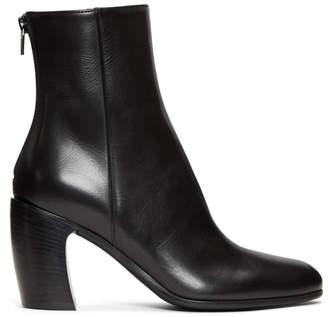 Ann Demeulemeester Black Curved Heel Boots