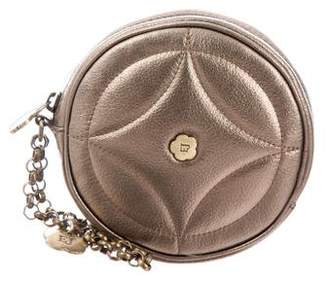 Eric Javits Metallic Leather Pouch