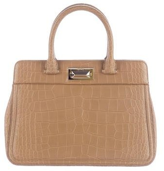 Max Mara MaxMara Embossed Leather Tote