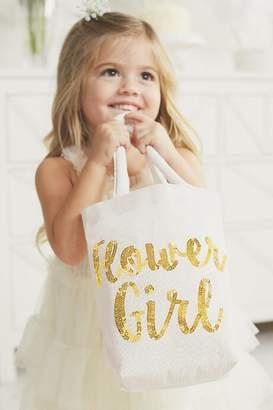 francesca's Francescas Kids Flower Girl Tote - White