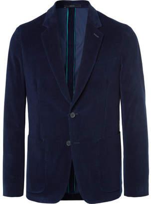 Paul Smith Navy Soho Slim-Fit Cotton-Corduroy Blazer