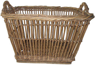 One Kings Lane Vintage French Bakery Basket - Chateau et Jardin