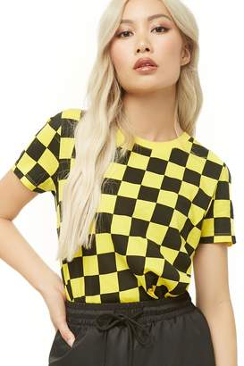 Forever 21 Checkered Print Tee