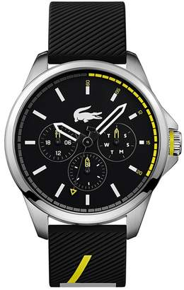 Lacoste Men's Black Analogue Silicone Strap Watch
