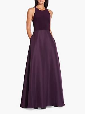 Adrianna Papell Jersey Taffeta Dress, Currant