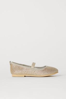 f5853f9b199 H M Glittery Ballet Flats - Gold