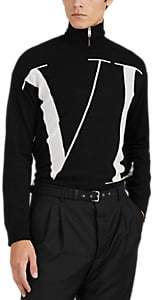 Valentino Men's Logo Wool-Cashmere Sweater - Black