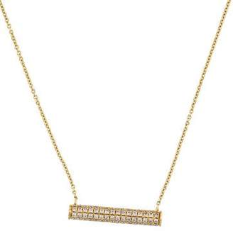 Sydney Evan 14K Pavé Diamond Bar Roll Necklace