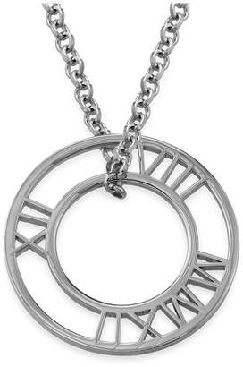 Anna Lou of London Roman Numeral Circle Necklace