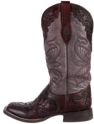 Stetson Leather Mid-Calf Boots