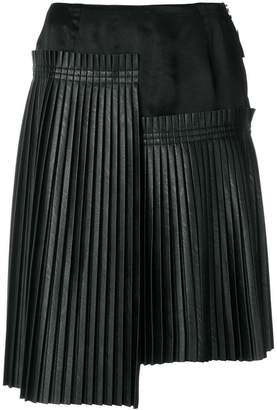MM6 MAISON MARGIELA asymmetric pleated skirt