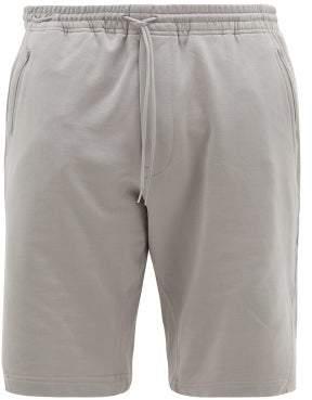 Y-3 Y 3 Classic Cotton Jersey Shorts - Mens - Grey