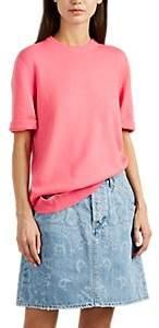 Women's Detached-Hem Cashmere Short Sleeve Sweater - Begonia Size L