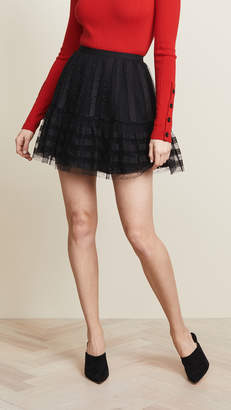 RED Valentino Textured Mini Skirt