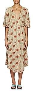 Natalie Martin Women's Coco Floral Midi-Dress-Cream