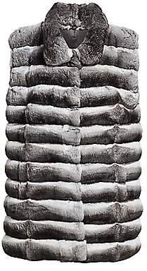 The Fur Salon Women's Collared Chinchilla Fur Vest