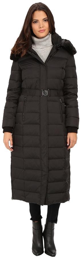 DKNYDKNY Belted Maxi w/ Detachable Fur Collar 31909-Y5