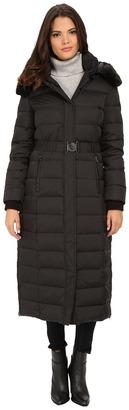 DKNY Belted Maxi w/ Detachable Fur Collar 31909-Y5 $300 thestylecure.com